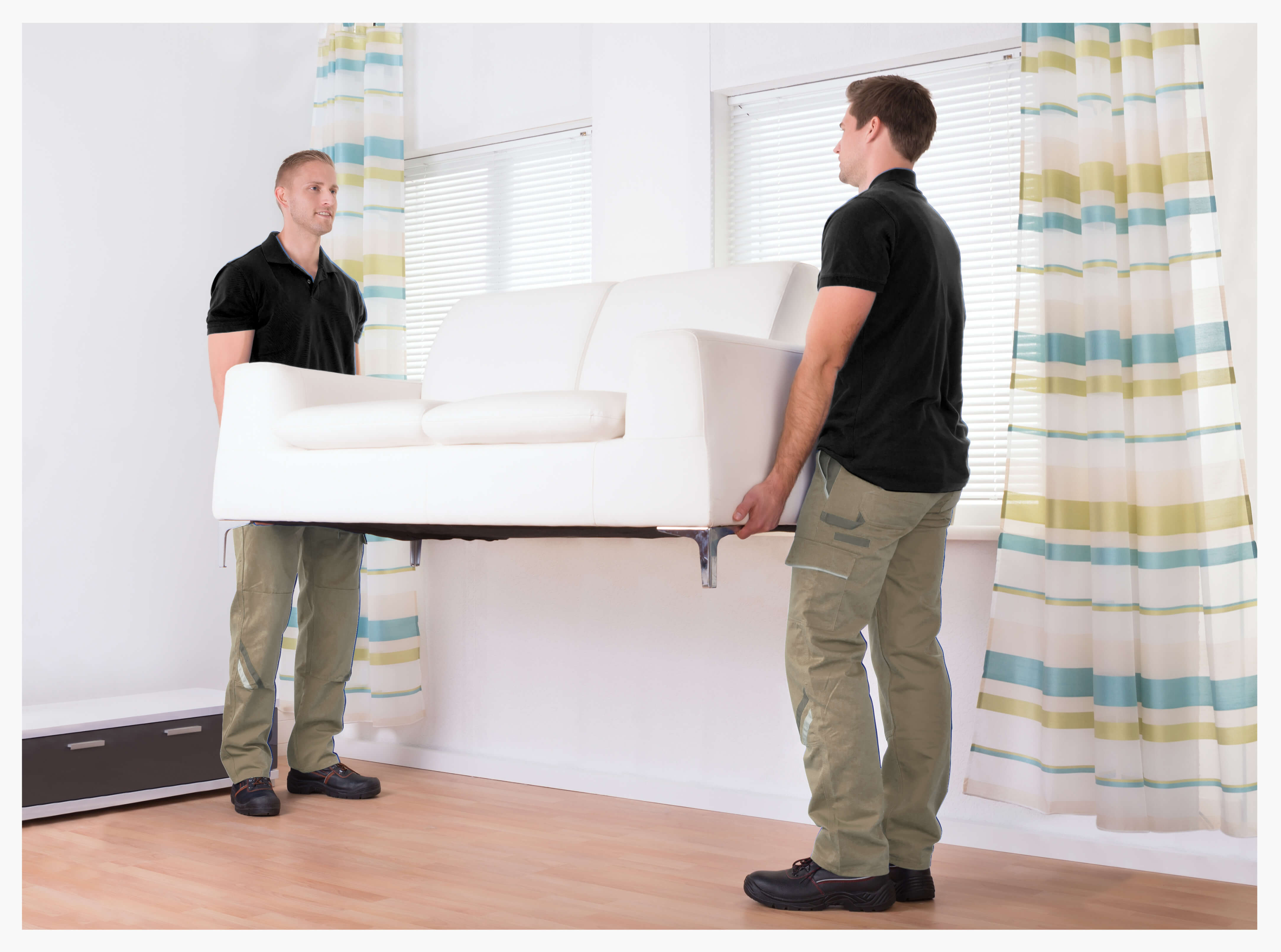 contract carriers delivering a couch